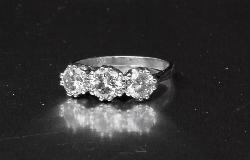 Stunning Three Stone Diamond Engagement Ring
