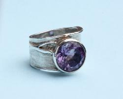 Stylised Amethyst Dress Ring
