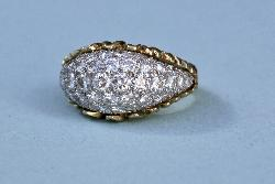 Stylish French Diamond Cocktail Ring