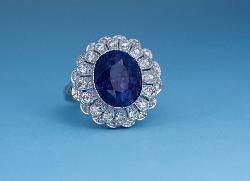 Stylish Sapphire And Diamond Engagement Ring