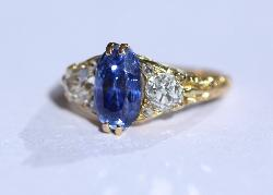 Victorian Sapphire And Diamond Engagement Ring