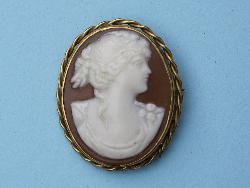 Victorian Style Large Cameo Brooch