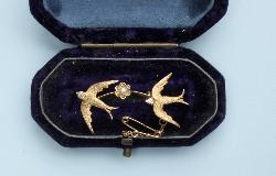Victorian Swallow Brooch