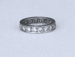 Vintage Diamond Full Eternity Ring