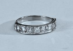 Vintage Eight Stone Diamond Eternity Ring