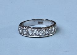 Vintage Seven Stone Diamond Eternity Ring
