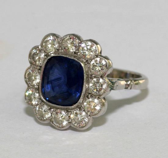 vintage sapphire engagement rings www pixshark